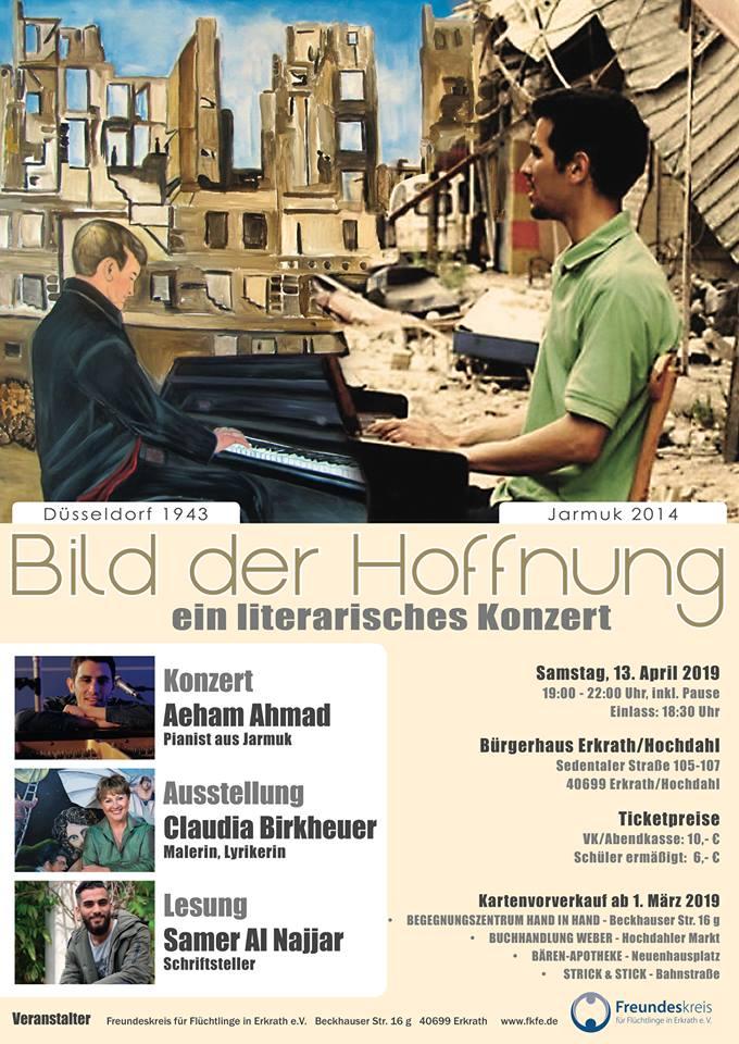 """Plakat Veranstaltung """"Bild der Hoffnung"""""""