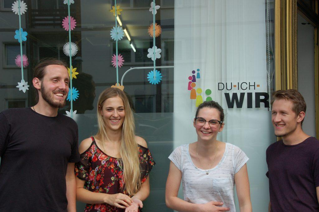 Der neue Vorstand: Dominik, Laura, Lea & Marcel