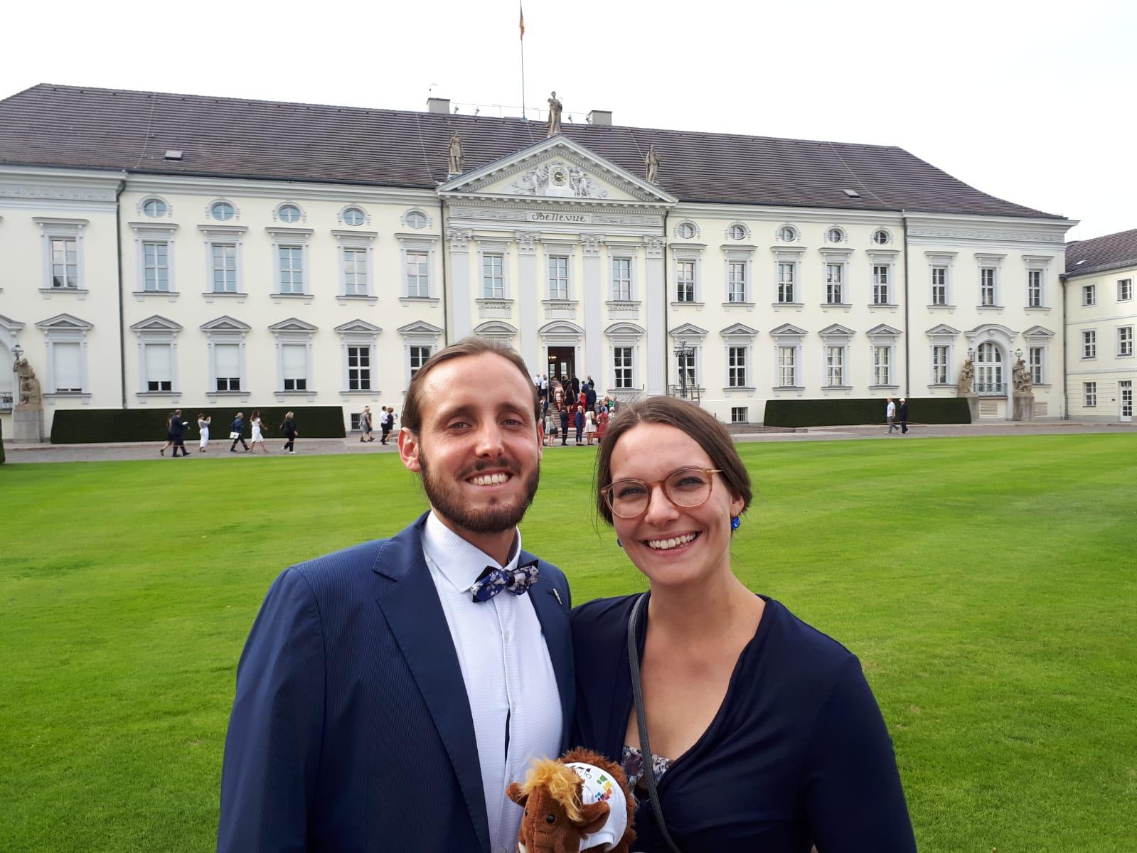 Dominik & Lena beim Bürgerfest des Bundespräsidenten